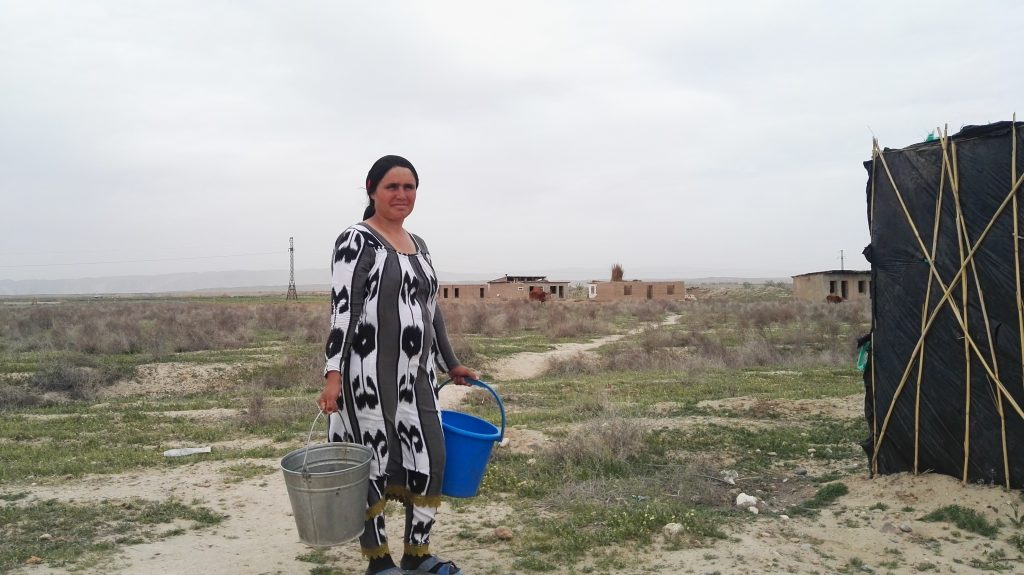 Zulfiniso Mirzoeva says the authorities promised water and electricity. Photo: CABAR.asia